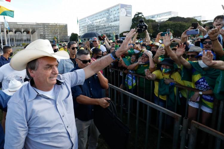 (Brasília - DF, 15/05/2021) Presidente Jair Bolsonaro durante Ato do Movimento Brasil Verde e Amarelo na Esplanada dos Ministérios..Foto: Alan Santos/PR (Foto: Alan Santos/PR)