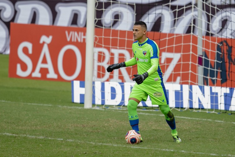 Goleiro Felipe Alves deve permanecer no Fortaleza até o final de 2023 (Foto: Aurelio Alves)