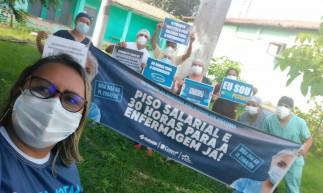 Profissionais da Enfermagem objetivam conquistar apoio dos senadores cearenses para aprovação da PL.