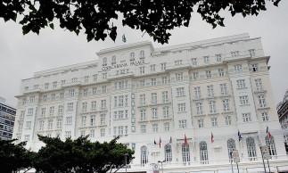 Rio de janeiro, 17 de Janeiro de 2007..Fachada do Hotel Copacabana Palace, onde acontecer