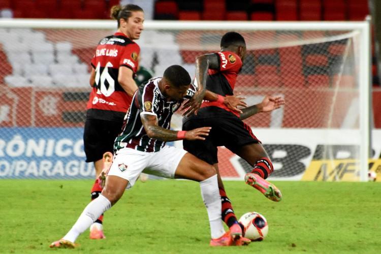 Fluminense e Flamengo empataram por 1 a 1 na primeira partida da final do Campeonato Carioca (Foto: Mailson Santana/Fluminense FC)