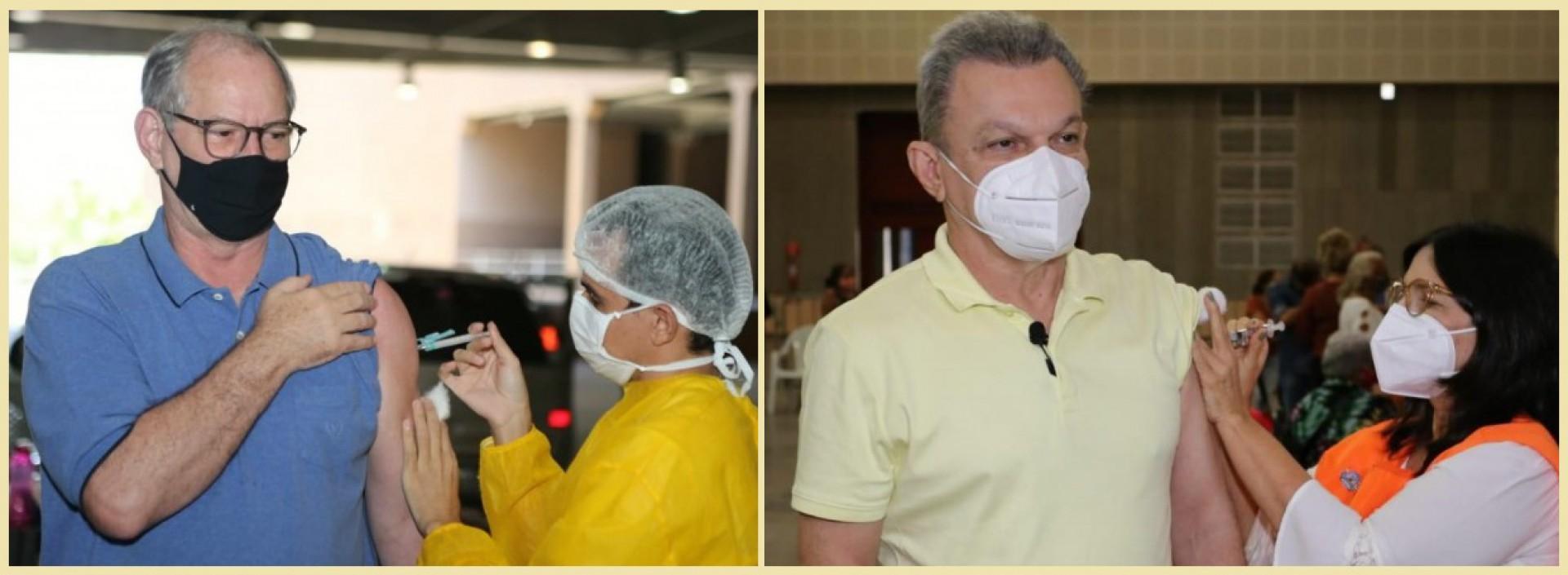 Sarto e Ciro Gomes recebem a segunda dose da vacina