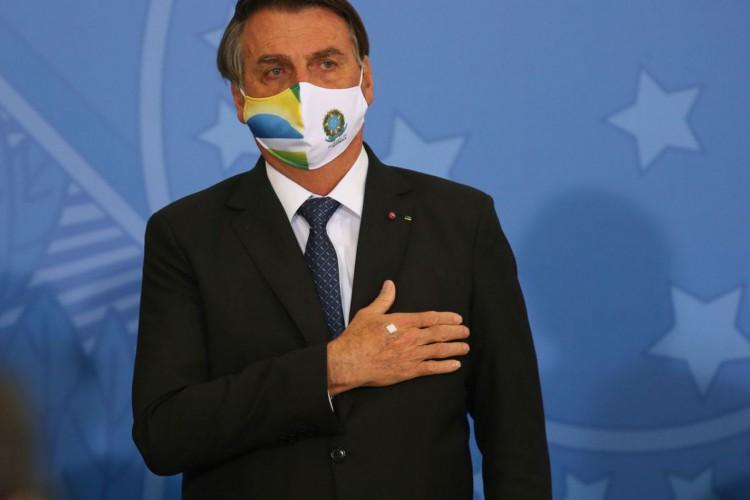 Presidente jair Bolsonaro participa de Cerimônia de Liberação de Recursos para Atenção Primária à Saúde no Enfrentamento da Covid-19 (Foto: Fabio Rodrigues Pozzebom/Agência Brasil)
