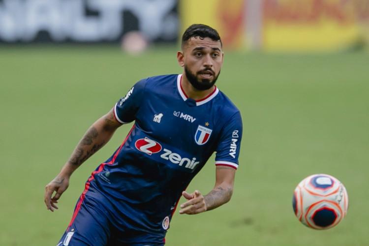 Volante Felipe deve assinar novo contrato com o Fortaleza até 2023 (Foto: Aurelio Alves)