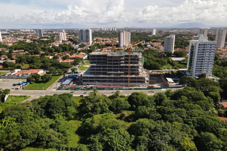 Obras do Hospital Materno Infantil da Unimed Fortaleza (Foto: Divulgação)