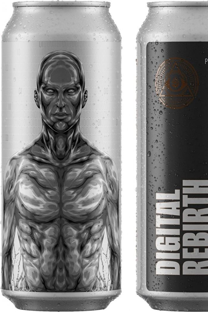 Dogma Digital Rebirth 9%: Double IPA com Citra e Mosaic, tem aromas bem frutados e cítricos com final mais alcoólico e seco. Amargor médio alto. Sirva na temperatura de 4º, em copo Pint. (Foto: divulgação)