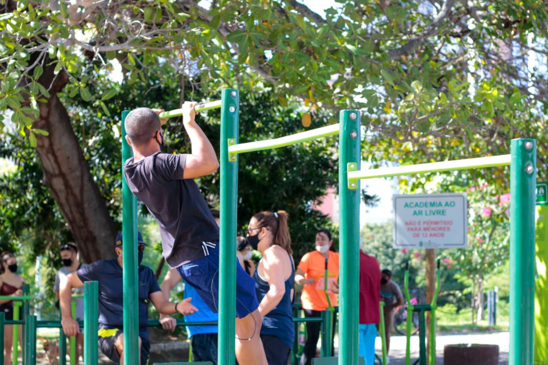 Movimentação no Parque do Cocó na manhã de domingo, 23 de maio.