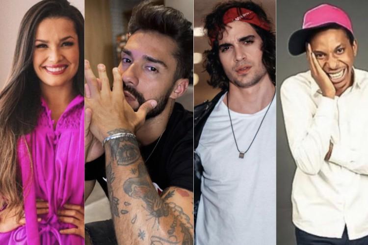 Juliette Freire, Fiuk, Lucas Penteado e Bil Araújo não estão no grupo do WhatsApp com os ex-participantes do BBB21 (Foto: Reprodução/Instagram)