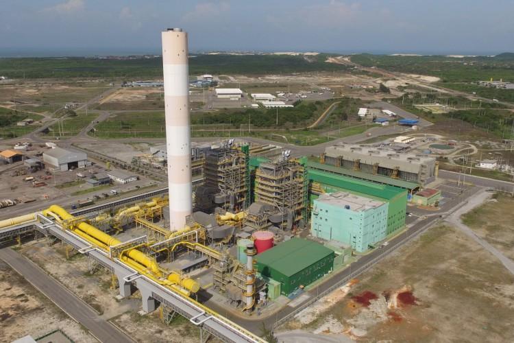 Termelétrica a gás no Pecém (Foto: CSP / DIVULGAÇÃO)
