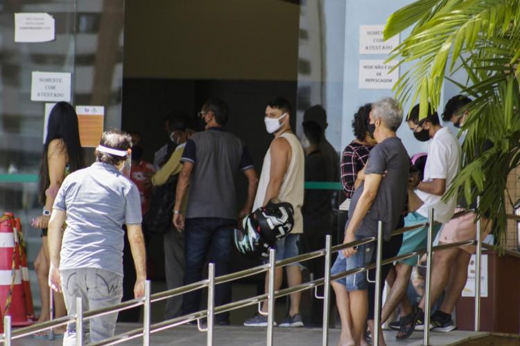 Negativa para os estagiários estaria acontecendo somente no Centro de Eventos, conforme apontam os relatos. (Foto: Thais Mesquita)