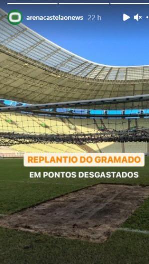 Gramado do Castelão passa por melhorias antes do início do Campeonato Brasileiro