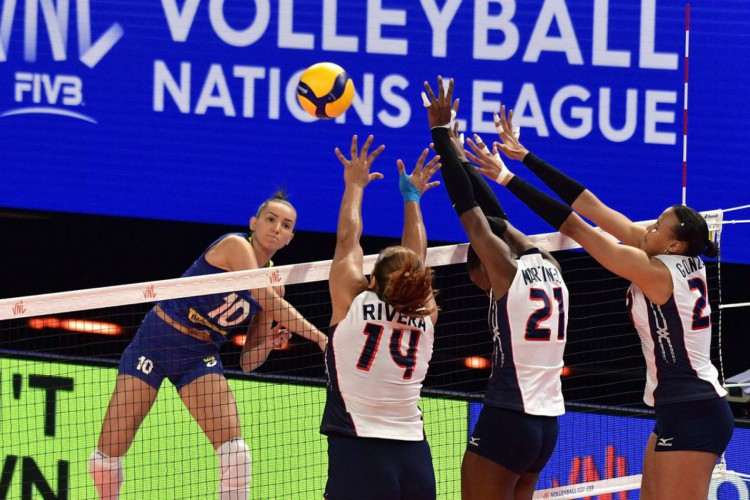 Vôlei: seleção feminina garante segunda vitória na Liga das Nações (Foto: )