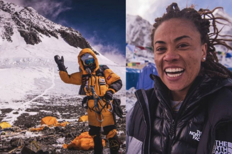 Aretha Duarte chegou ao topo do Monte Everest no último domingo, 23 (Foto: Reprodulção/Instagram)
