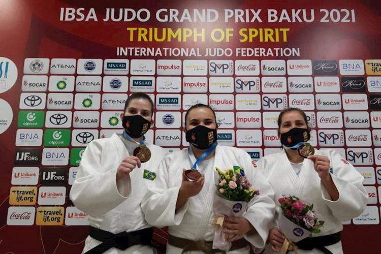 Brasil conquista mais 2 ouros e 1 bronze no judô paralímpico, em Baku (Foto: )