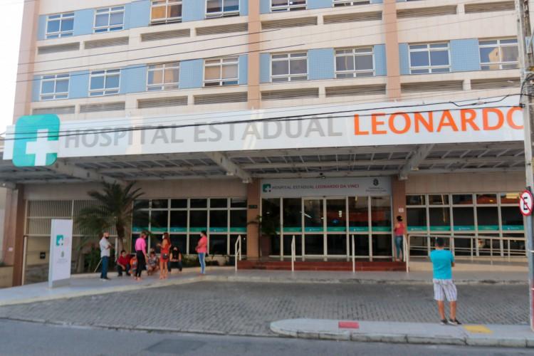 Hospital Estadual Leonardo Da Vinci tem  (Foto: BARBARA MOIRA)