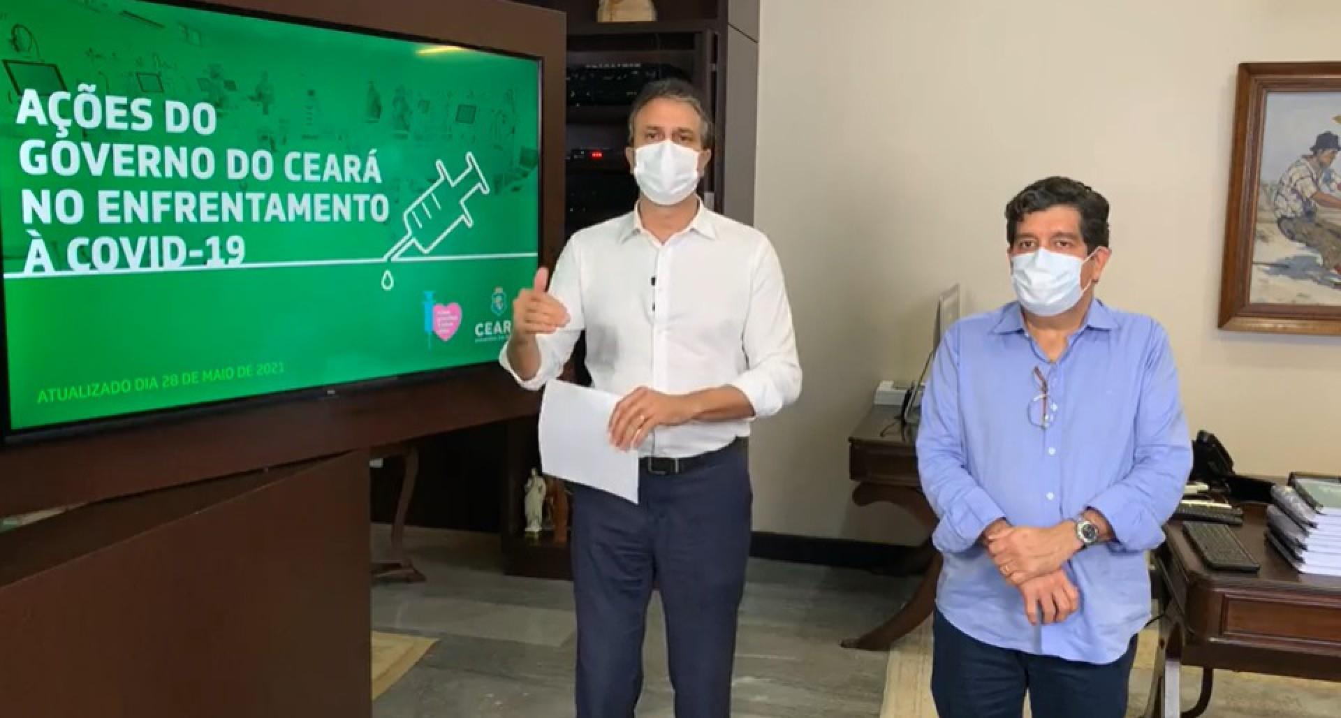 O GOVERNADOR Camilo Santana ao lado do secretário Cabeto (Foto: REPRODUÇÃO)