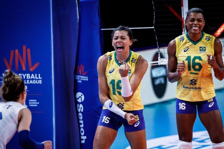 Liga das Nações: Brasil joga bem e bate Japão no torneio feminino (Foto: )