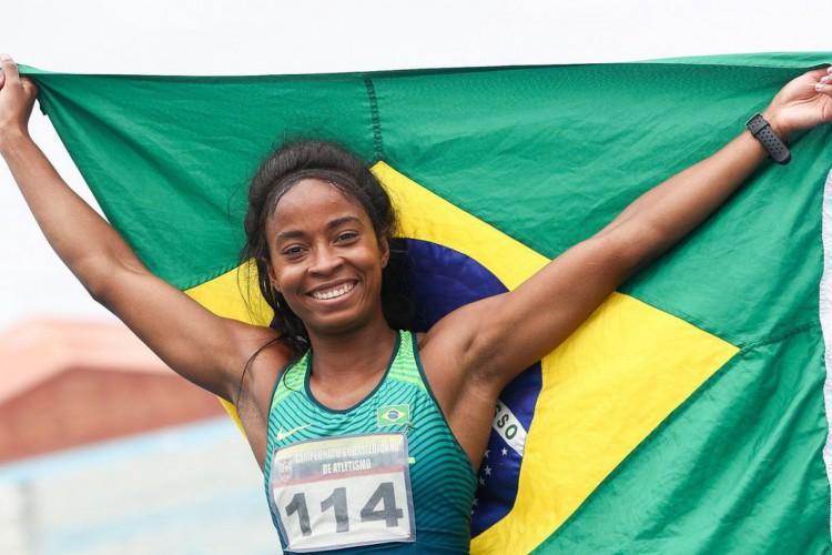 Vitória Rosa, ouro nos 200 m - (Wagner Carmo/CBAt) (Foto: WAGNER CARMO/CBAt)