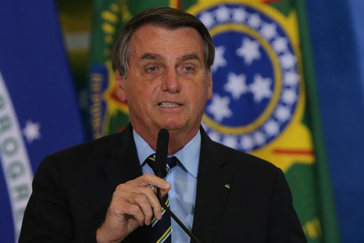 Presidente Jair Bolsonaro participa da solenidade Anúncios CAIXA: Ações Socioambientais e Adesão ao Programa Adote um Parque (Foto: /Agência Brasil)