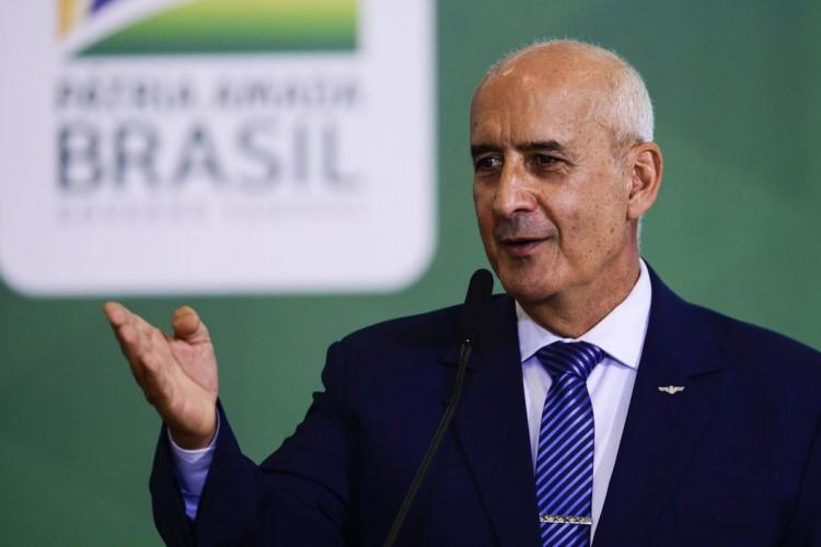 O ministro da Secretaria de Governo, Luiz Eduardo Ramos, durante o lançamento da Agenda Prefeito + Brasil, no Palácio do Planalto. (Foto: Marcelo Camargo/Agência Brasil)