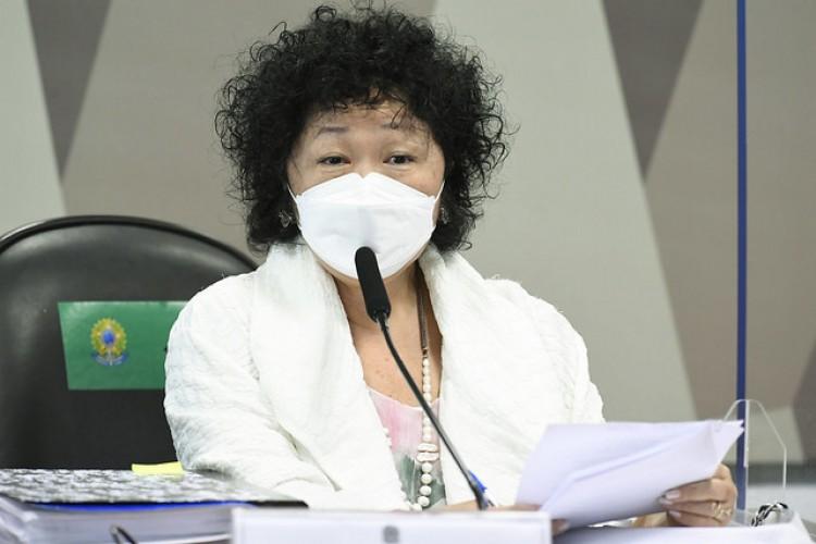 CPI da Covid realiza oitiva da médica oncologista e imunologista Nise Hitomi Yamaguchi. O objetivo é esclarecer sobre o assessoramento paralelo ao governo no enfrentamento à covid-19 e tentativa de mudança da bula da cloroquina (Foto: Jefferson Rudy/Agência SenadoAg)