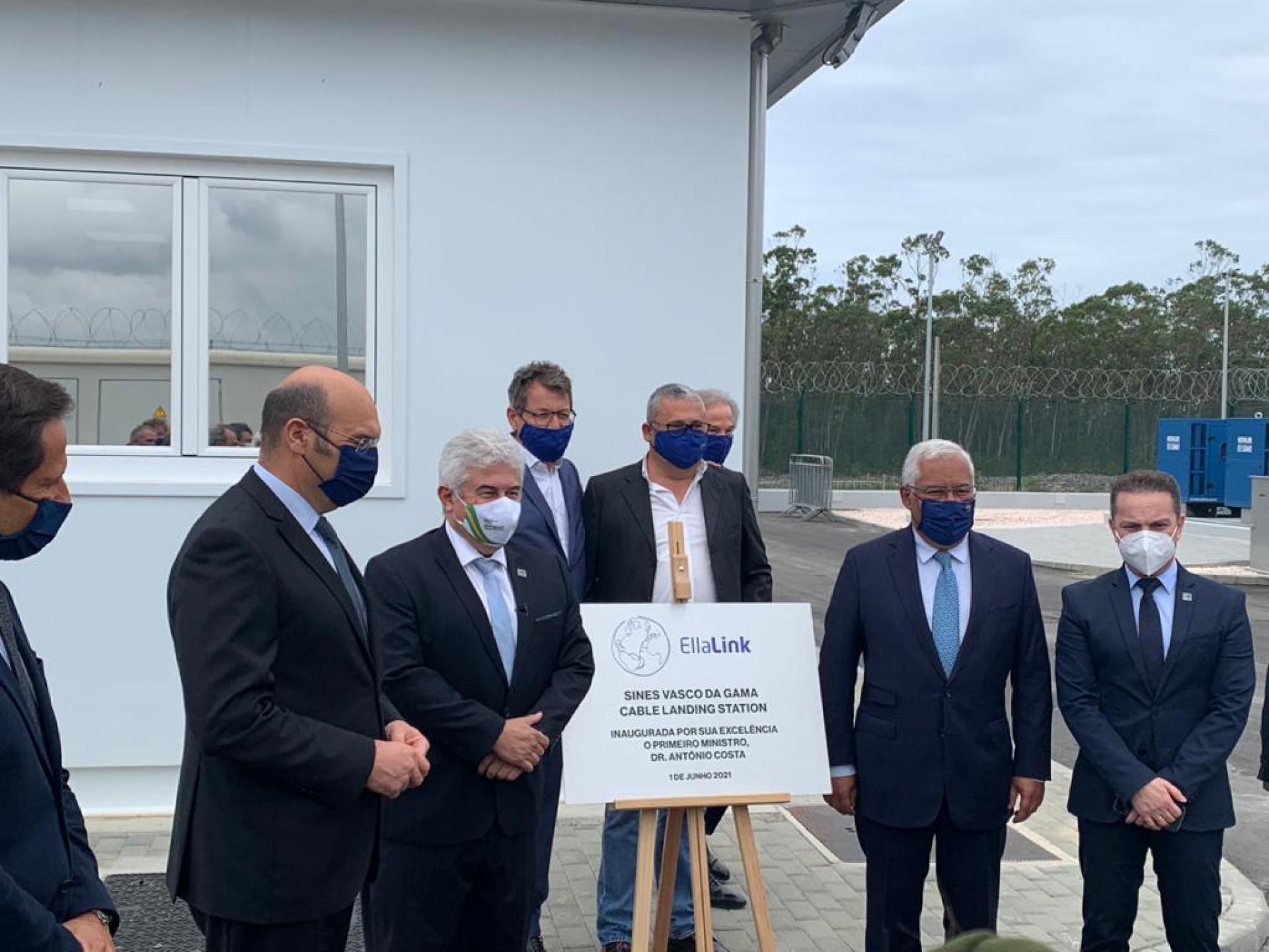 cerimônia de inauguração do novo cabo submarino da EllaLink que vai conectar Fortaleza à Sines