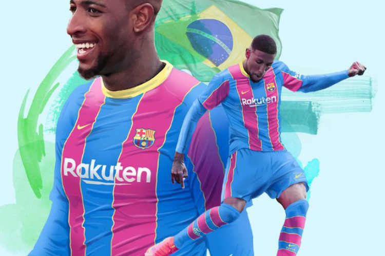 O lateral brasileiro Emerson Royal será incorporado ao elenco do Barcelona na temporada 2021/2022 (Foto: Divulgação/Twitter/FC Barcelona)