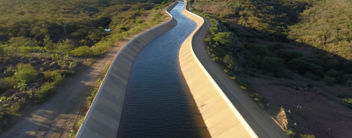 Obras do Cinturão das águas em Missão Velha em Março de 2021 (Foto: NÍVIA UCHÔA / DIVULGAÇÃO SDA)