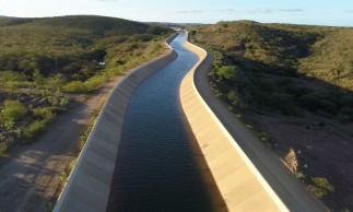 Obras do Cinturão das águas em Missão Velha em Março de 2021