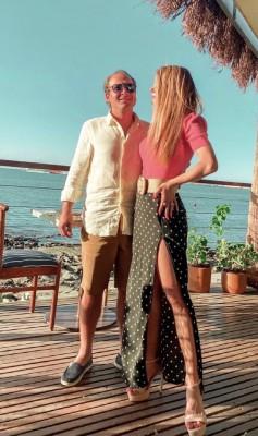 Humberto Cavalcante e Raquel na privê do Illa Mare