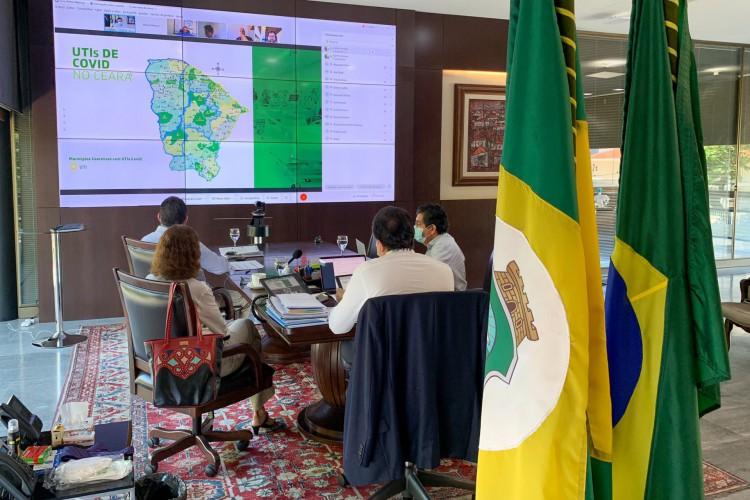 Comitê Estadual de Enfrentamento à Pandemia se reúne todas as sextas-feiras para deliberar sobre determinações de isolamento social no Ceará  (Foto: (Reprodução/Twitter))