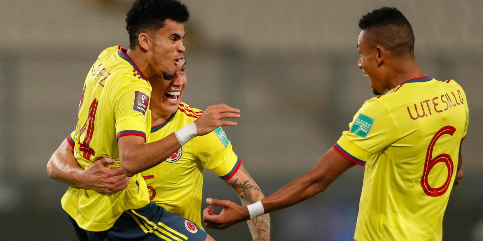 A Colômbia fez valer o favoritismo e venceu o Peru por 3 a 0