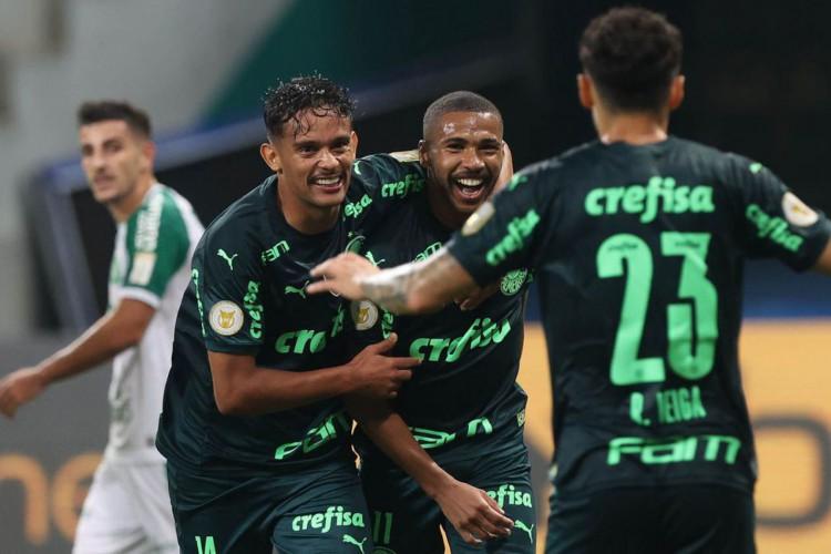 O jogador Wesley, da SE Palmeiras, comemora seu gol contra a equipe da A Chapecoense F, durante partida válida pela segunda rodada, do Campeonato Brasileiro, Série A, na arena Allainz Parque. (Foto: Cesar Greco) (Foto: Cesar Greco)