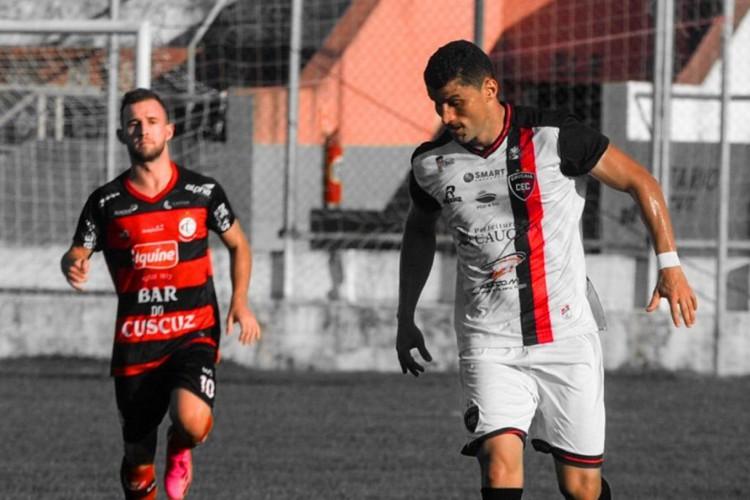 Caucaia estreou na Série D 2021 com empate diante do Campinense-PB.  (Foto: Caucaia/ Twitter)