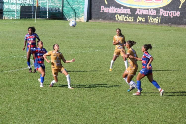 JC Futebol Clube e Fortaleza empataram em 1 a 1 pelo Brasileirão Feminino.  (Foto: Marcos Mendonça / JC Futebol Clube)