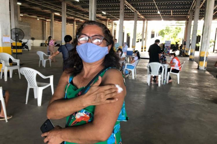 Vacinação contra Covid-19 do público geral teve início em Fortaleza neste domingo, 6 de junho. (Foto: Thaís Mesquita/ O POVO)