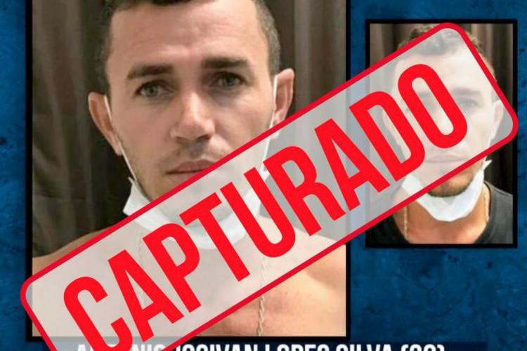 Apontado como responsável pela morte de escrivão da Delegacia Regional de Tauá, no interior do Ceará, após reagir durante prestação de depoimento, é preso em São Paulo (Foto: Divulgação / SSPDS)