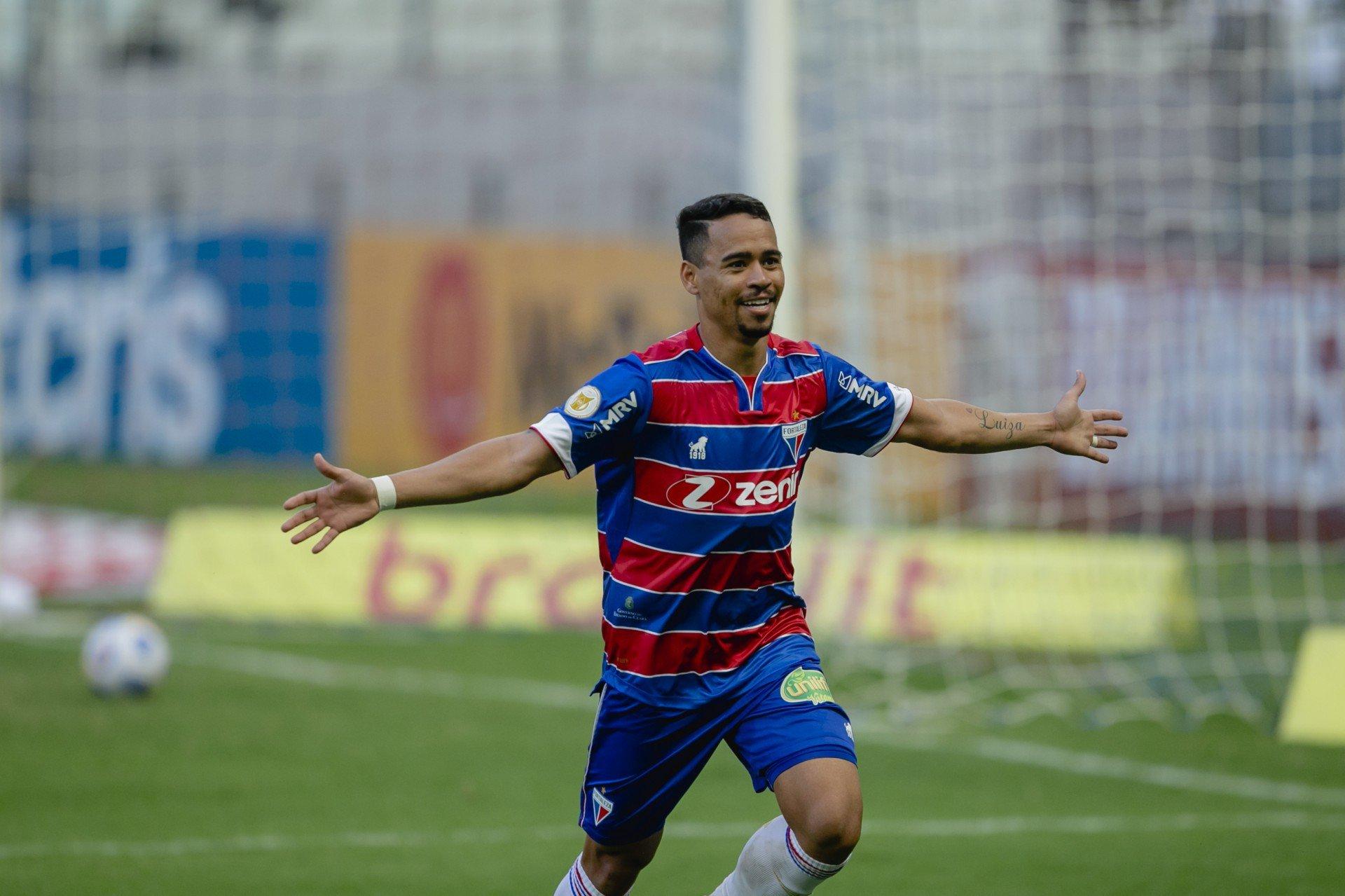 Pikachu é vice-artilheiro do Fortaleza na Série A, com 4 gols  (Foto: Aurelio Alves)