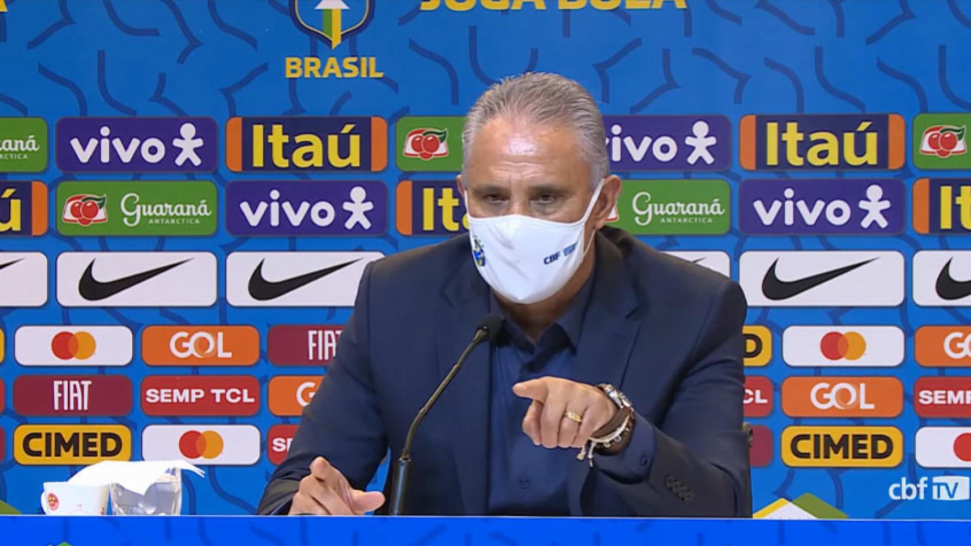 Tite, treinador da Seleção Brasileira, falou sobre a crise na CBF