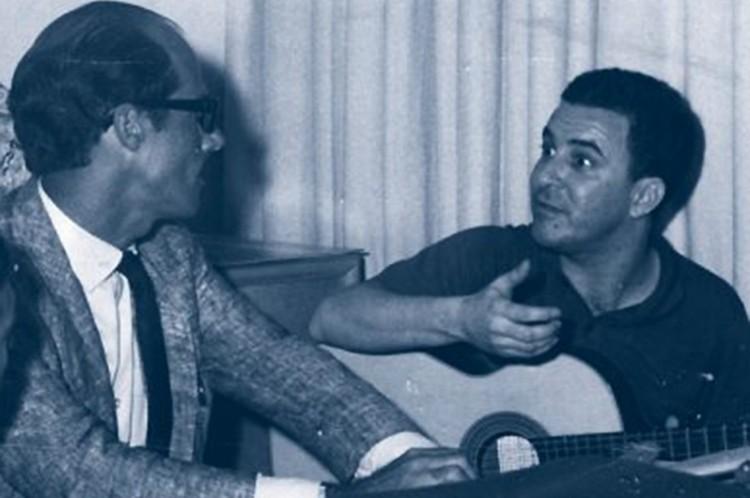 João Gilberto e Carlos Coqueijo em 1963.