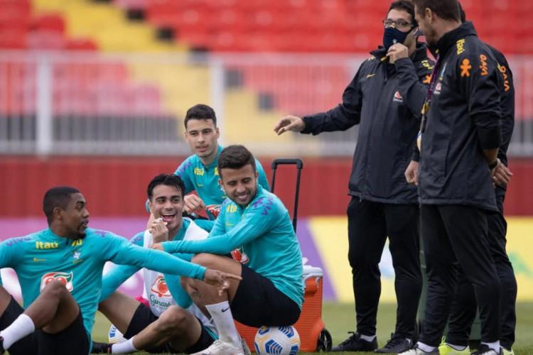 Seleção Brasileira Olímpica faz a preparação final para encarar a Sérvia (Foto: Divulgação / CBF)