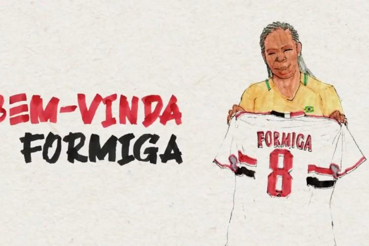 São Paulo anuncia retorno de Formiga ao clube após 20 anos (Foto: Divulgação/São Paulo)