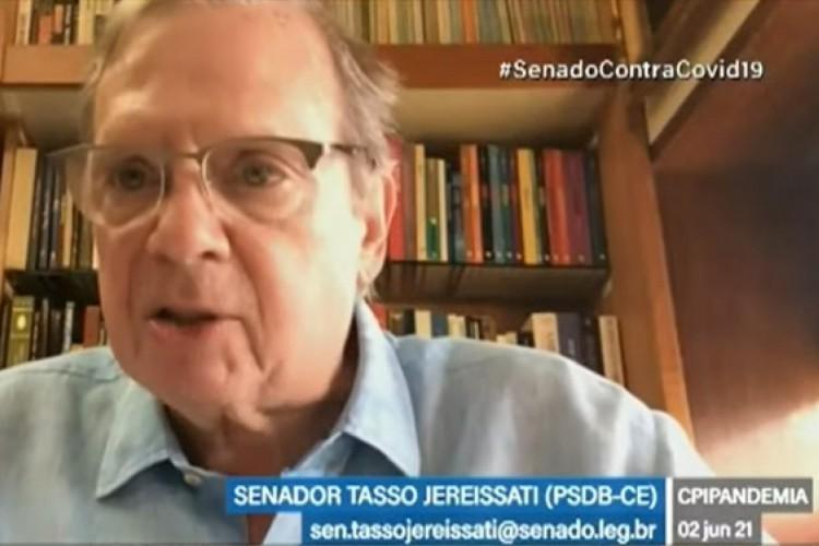 Tasso Jereissati é integrante da CPI da Covid (Foto: REPRODUÇÃO)