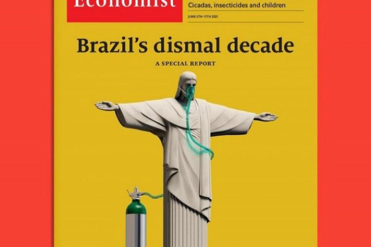 Secretaria de Comunicação do governo Bolsonaro respondeu publicação com base em tradução imprecisa. (Foto: Reprodução/Instagram The Economist)
