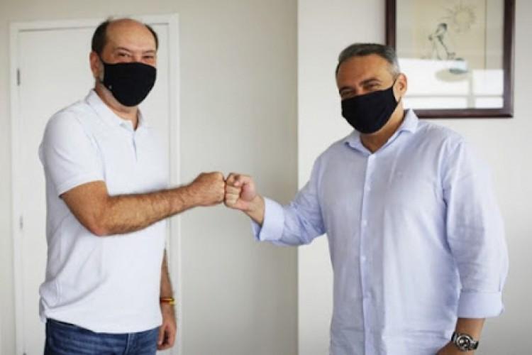Prefeito de Sobral Ivo Gomes (PDT) junto ao vereador Roque Hudson (PDT), que assume como líder do governo (Foto: REPRODUÇÃO/INSTAGRAM )