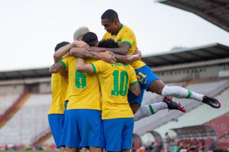 Brasil vence Sérvia em último amistoso antes dos Jogos Olímpicos (Foto: Ricardo Nogueira/CBF)