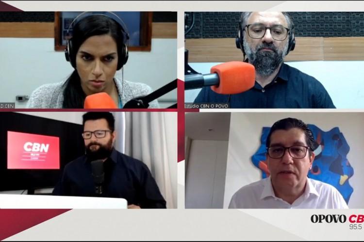 Dr. Cabeto, secretário de Saúde do Ceará, participou de entrevista na Rádio O POVO CBN. (Foto: Reprodução/Facebook)