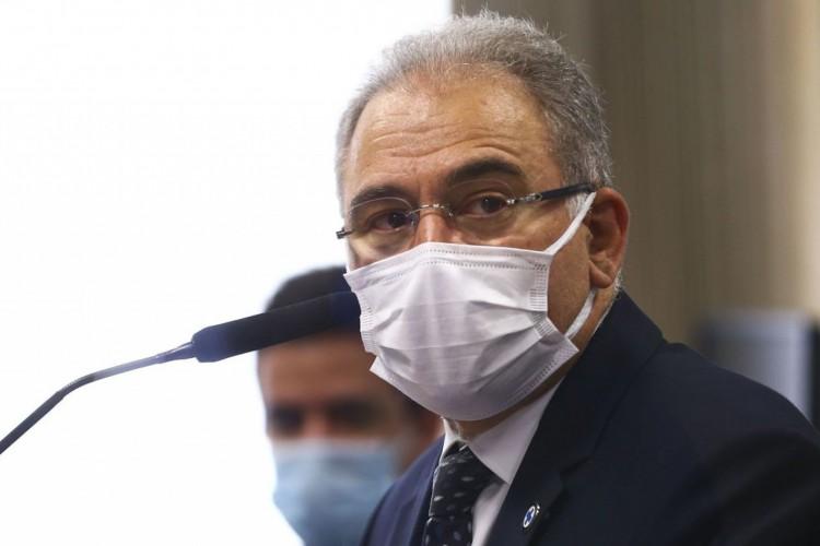 O ministro da Saúde, Marcelo Queiroga, é ouvido novamente durante sessão da CPI da Pandemia, no Senado. (Foto: Marcelo Camargo/Agência Brasil)