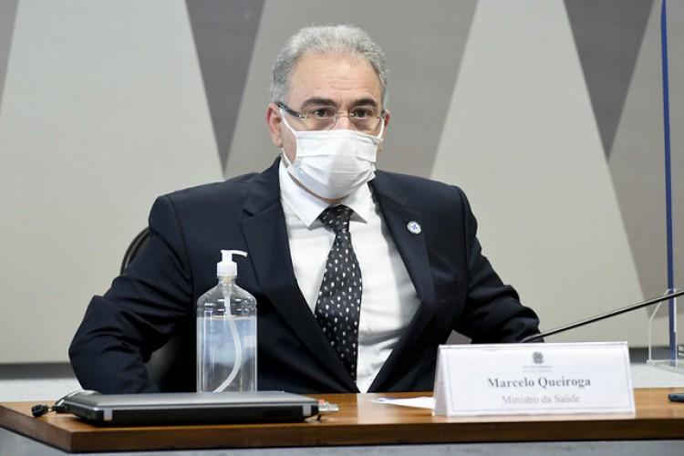 Ministro Marcelo Queiroga é ouvido pela segunda vez na CPI da Covid (Foto: Jefferson Rudy/Agência Senado)