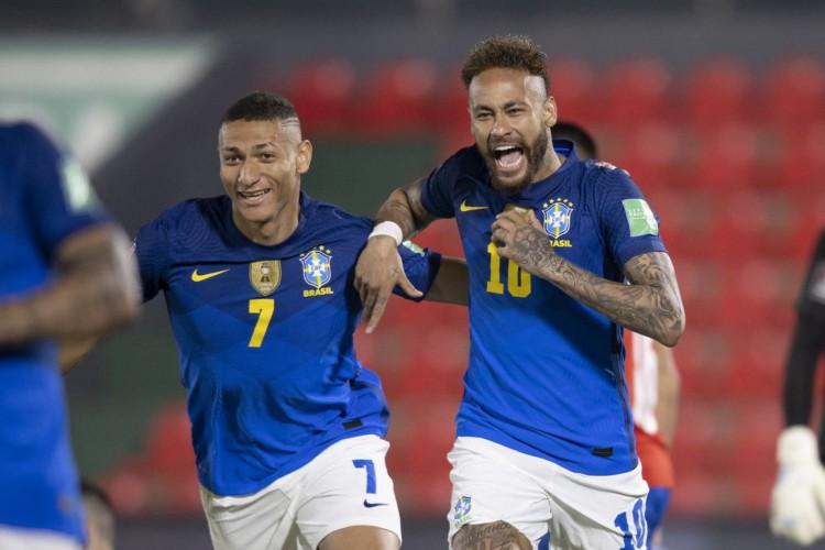 Brasil quebra tabu de 35 anos e vence Paraguai pelas Eliminatórias (Foto: Lucas Figueiredo/CBF)